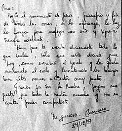 Carta de Mariana