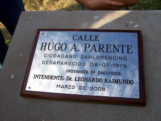 calle Hugo Parente